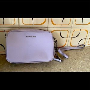 Michael Kors Ginny Leather Crossbody Bag Lilac
